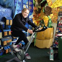 Charlotte Price cycles 16k on our Sport Relief challenge!
